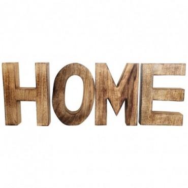 Lettres décoratives Home en bois 55x20cm