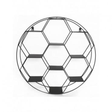Etagère murale hexagonale 7 tablettes 67cm