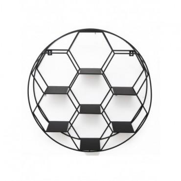 Etagère murale hexagonale 7 tablettes 50cm