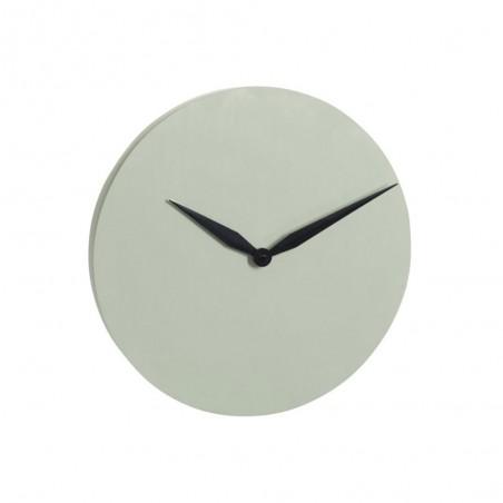 Horloge Moderne Ciment Vert Claire