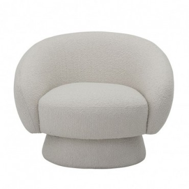 Fauteuil Blanc Bloomingville Ted