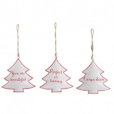 Arbre Suspendu Mix Metal Blanc/Rouge