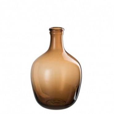 Vase Ellie Verre Ocre