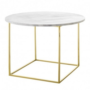 Table d'appoint en Marbre Bloomingville Eva