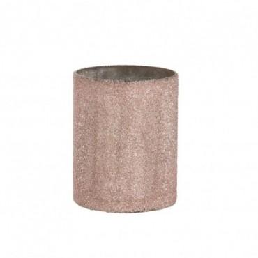 Photophore Cylindrique Verre Saumon L