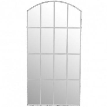 Miroir Arrondi Metal Blanc