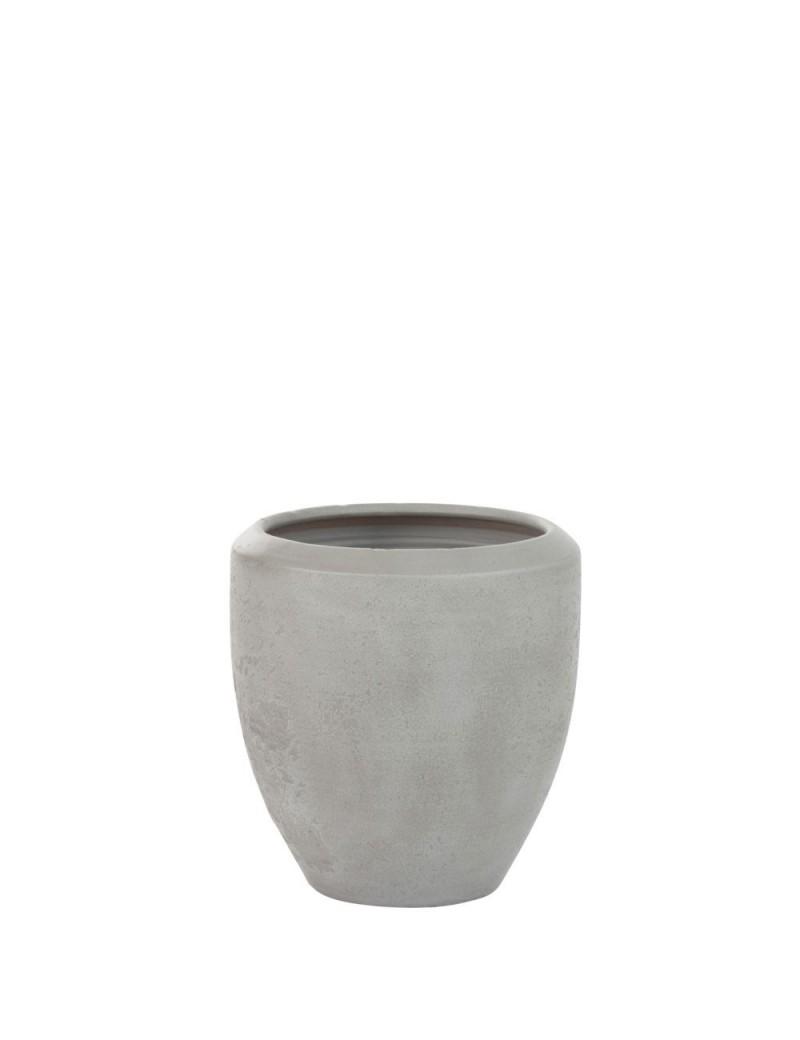 Cachepot Rond Terracotta Gris M