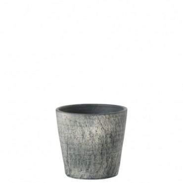 Cachepot Ecorce Ceramique Vert L