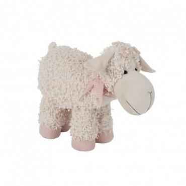 Cale Porte Mouton Textile Beige/Rose Taille L