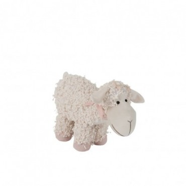 Cale Porte Mouton Textile Beige/Rose Taille S