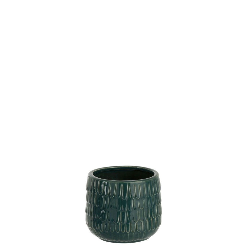 Cachepot Gouttes Ceramique Vert S