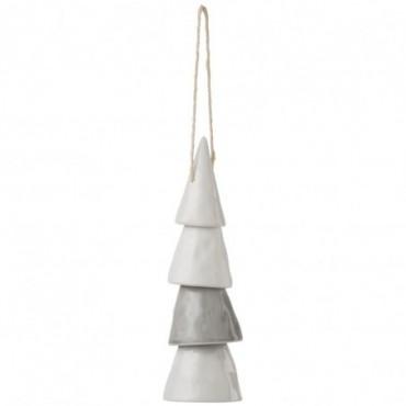 Arbre Suspendu Porcelaine Blanc/Gris L