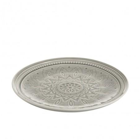 Assiette Ceramique Boho Gris L