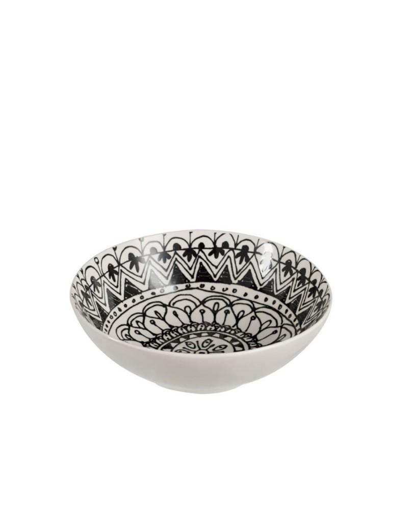 Bol Boho Ceramique Noir/Blanc L