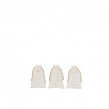 Pochette Noel Anglais Velours Blanc Taille S x3