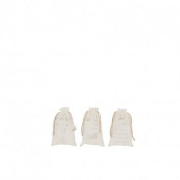 Pochette Noel Francais Velours Blanc Taille S x3