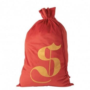 Pochette Noel S Velours Rouge Taille L
