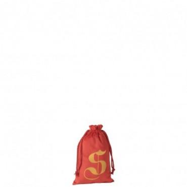 Pochette Noel S Velours Rouge Taille S