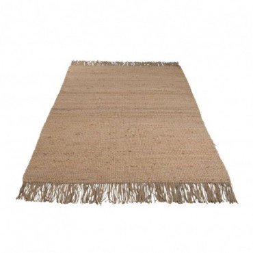 Tapis Effiloche Jute Naturel