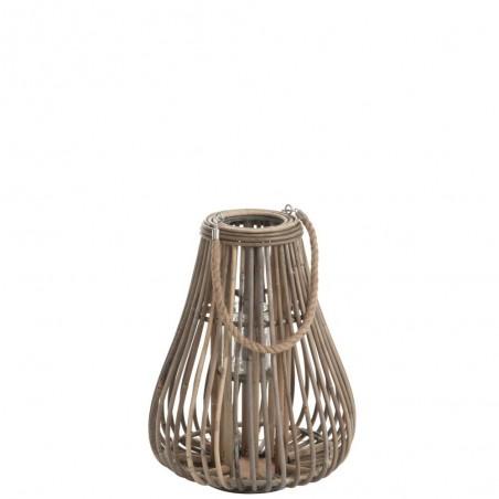Lanterne Poire Rotin Naturel M