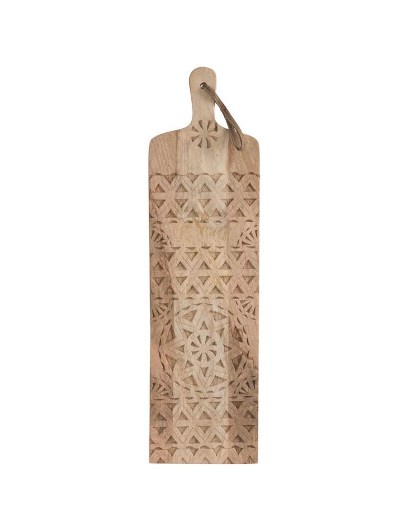 Planche En Bois Deco planche À decouper longue ethnique bois naturel