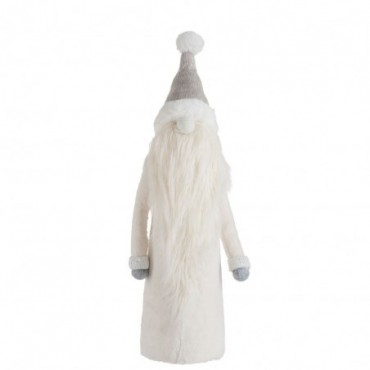 Pere Noel Barbe Longue Textile Gris/Blanc L