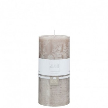 Bougie Cylindrique Taupe L