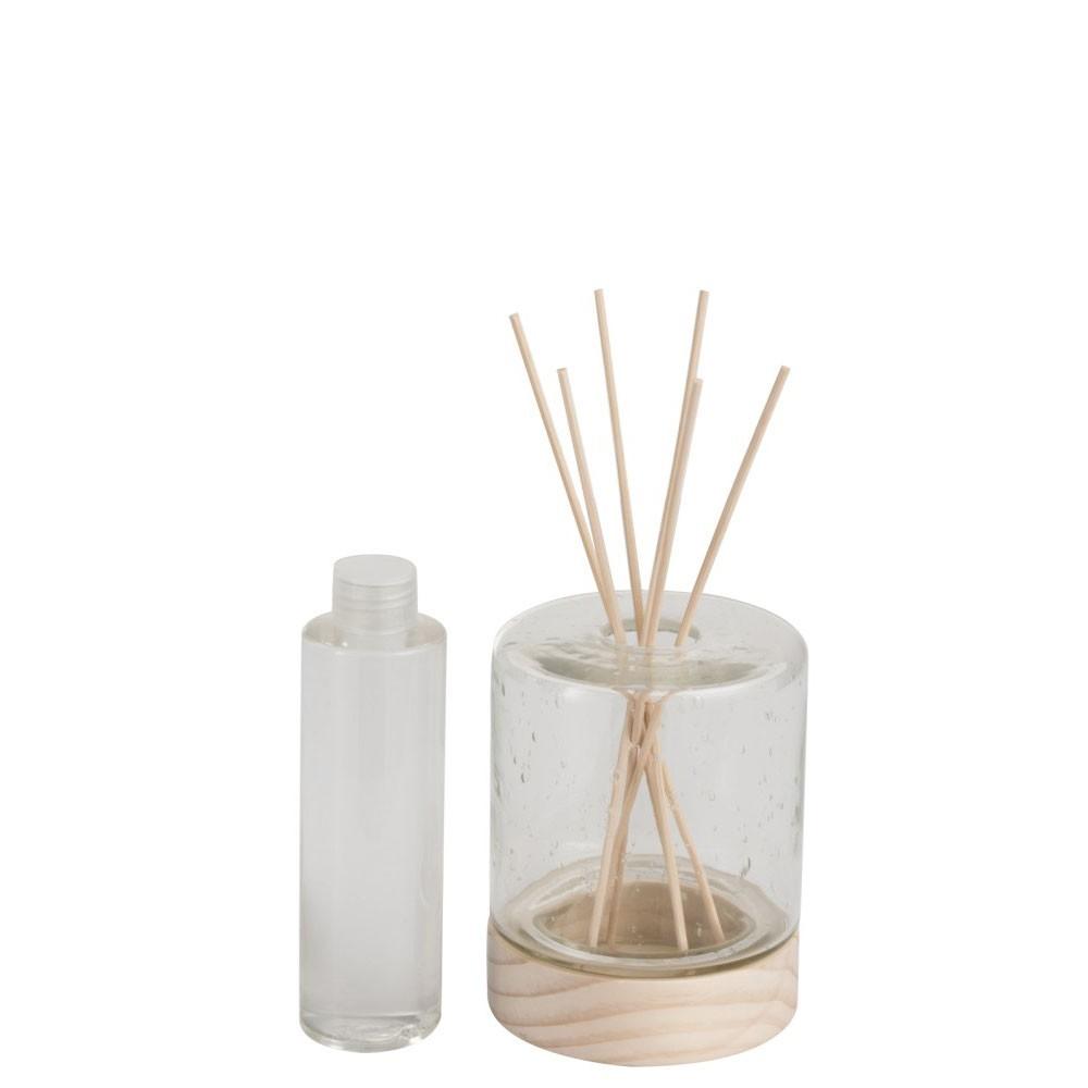 Huile Parfumée + Batonnets Verre/Bois