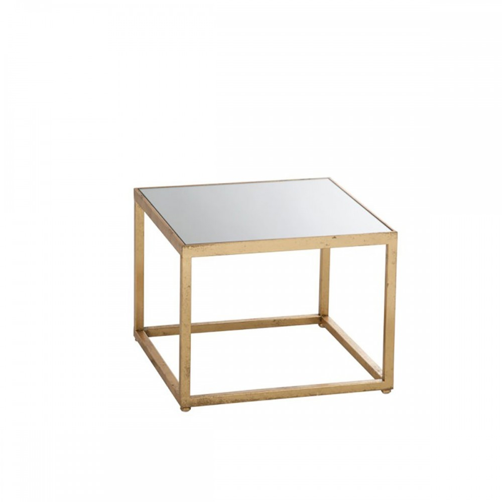 Table De Salon Carre Metal Verre Or J Line J Line By Jolipa