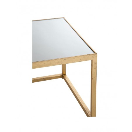 Table De Salon Carre Metal Verre Or J Line J Line By Jolipa