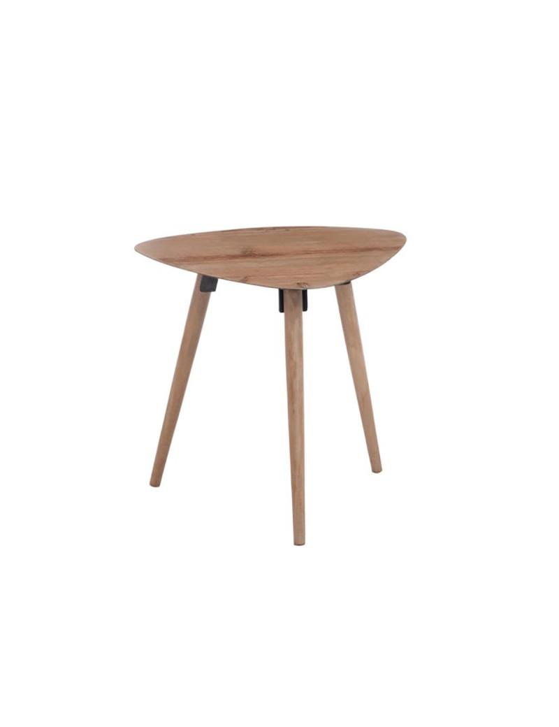 Table Gigogne Triangle Arrondi Metal Placage Naturel moyen