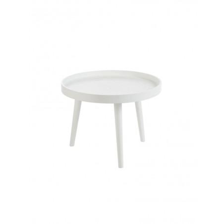 Table Gigogne Bord Rond Bois Blanc