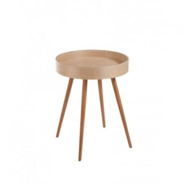 Table Gigogne Ronde 4 Pieds bois naturel