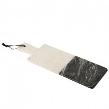 Planche Rectangulaire Marbre Noir/Blanc/Argent