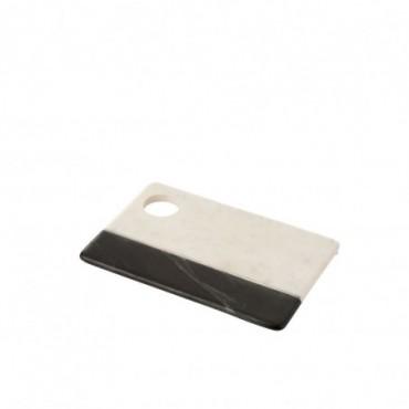 Planche Rectangulaire Trou Marbre Noir/Blanc