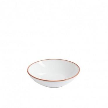 Plat Salade Terracotta Blanc Taille S 19X19X6Cm