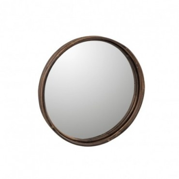 Plateau Miroir Rond Rotin Taille L