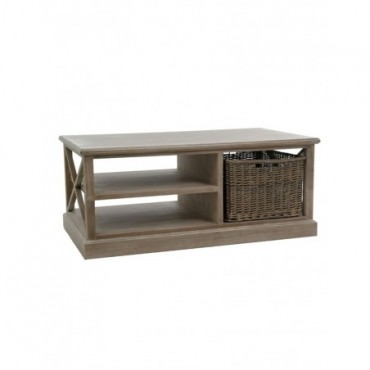 Table Salon rectangulaire Panier bois gris W