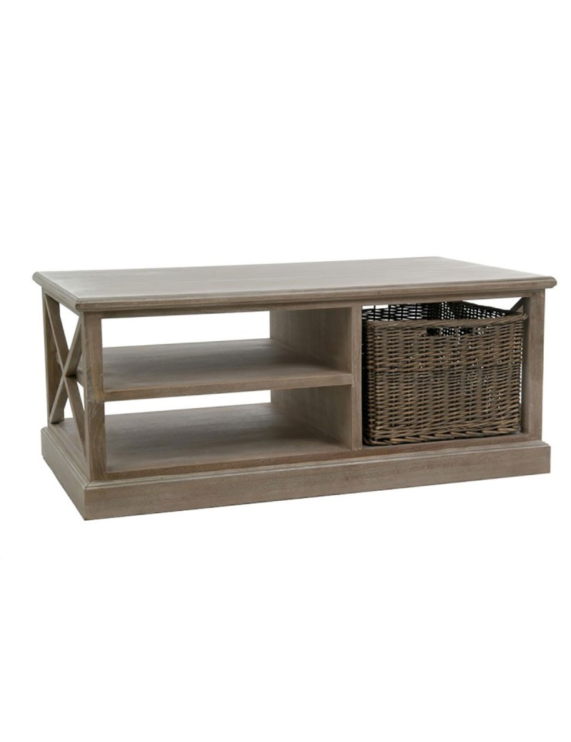 Table Salon rectangulaire Panier bois gris W