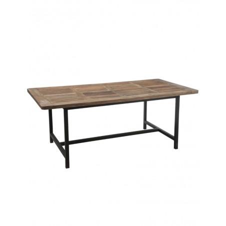 Table A Manger Bois Metal Marron + Noir
