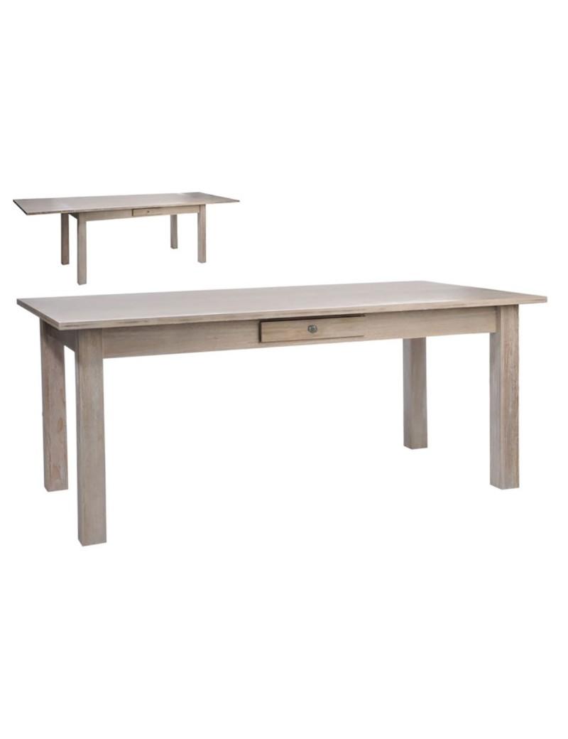 Table rectangulaire Escamotable bois naturel