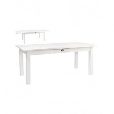 Table rectangulaire Escamotable Bois Blanc