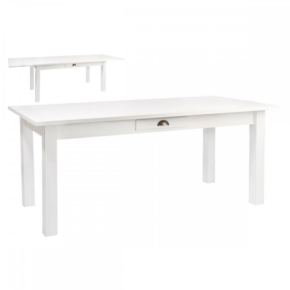 Table rectangulaire Escamotable Bois Blanc