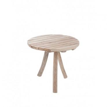 Table Ronde 3 Pieds bois naturel