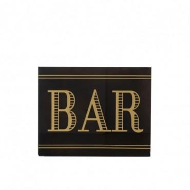 Pancarte Bar Verre Noir