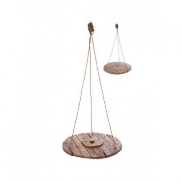 Table Suspendue Ronde bois naturel