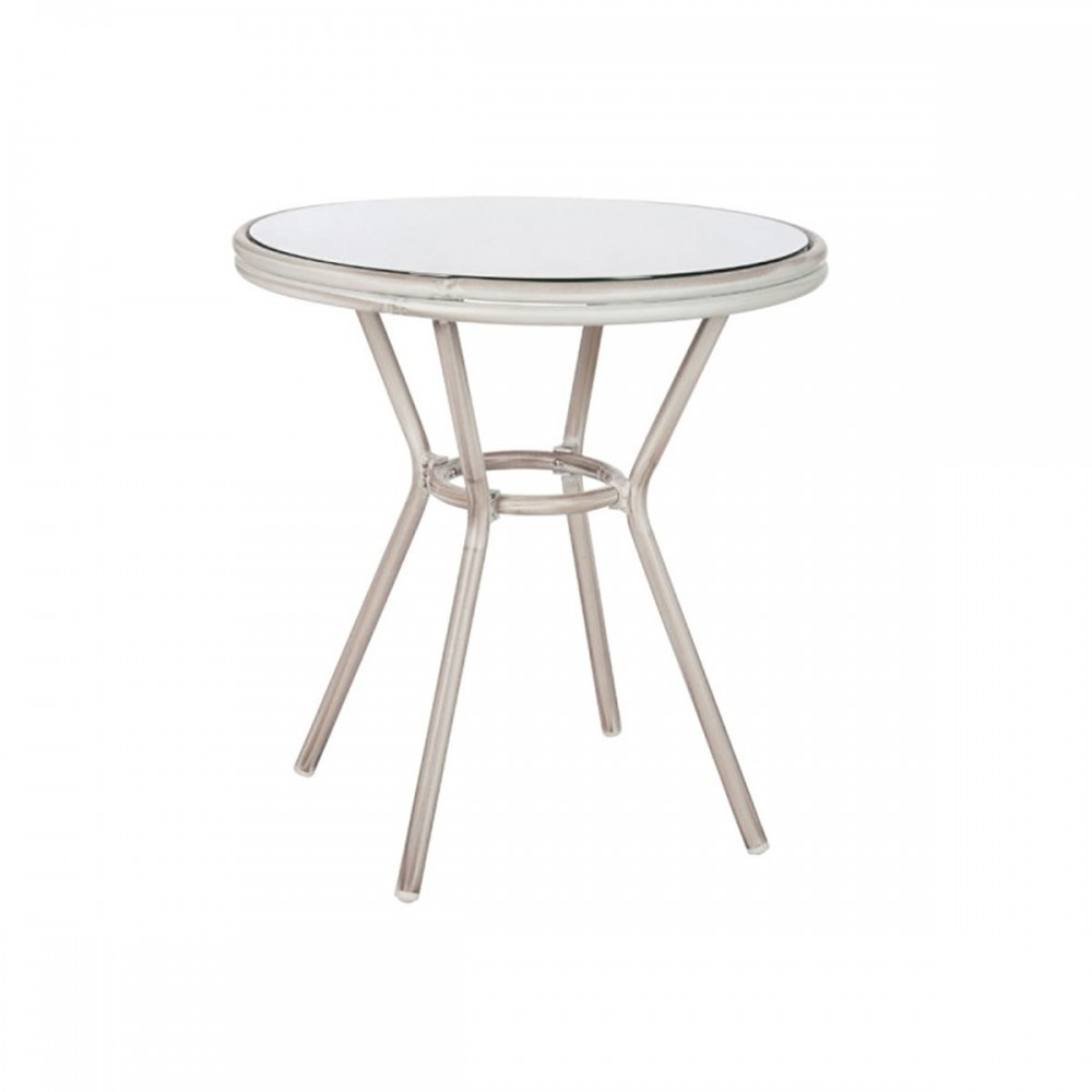 Table Hilda Aluminium Verre Gris