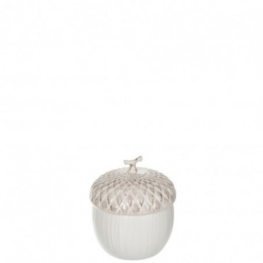 Pot A Provision Noisette Ceramique Creme Small