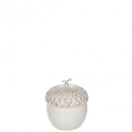 Pot A Provision Noisette Ceramique Creme Small