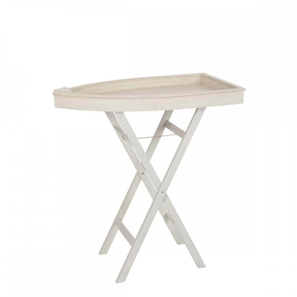 Table Appoint Bateau bois Beige Large